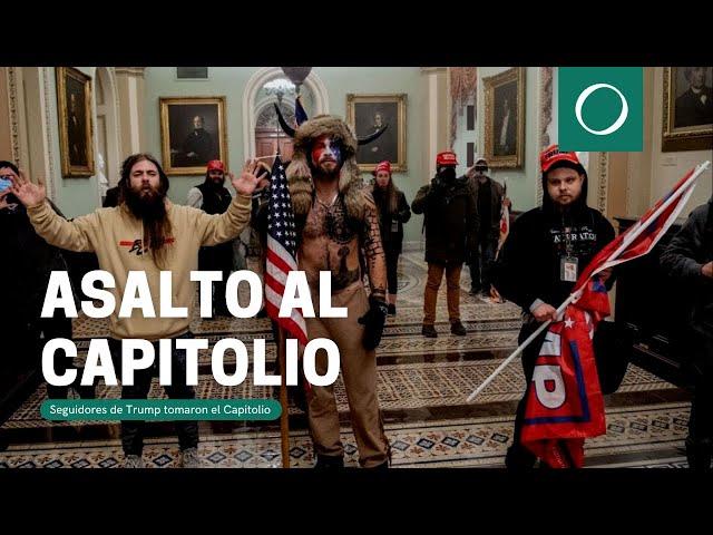 Seguidores de Trump tomaron el Capitolio