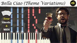 Bella Ciao (Theme Variations from La Casa de Papel) Synthesia Piano Tutorial + MIDI / SHEETS