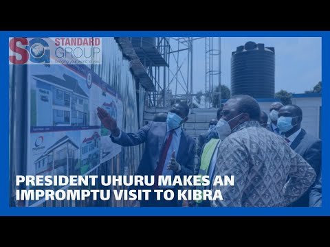 President Uhuru makes an impromptu visit to Kibra, commissions construction of level 3 hospitals