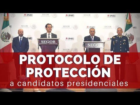 Protocolo de protección personal para los candidatos a la Presidencia de la República