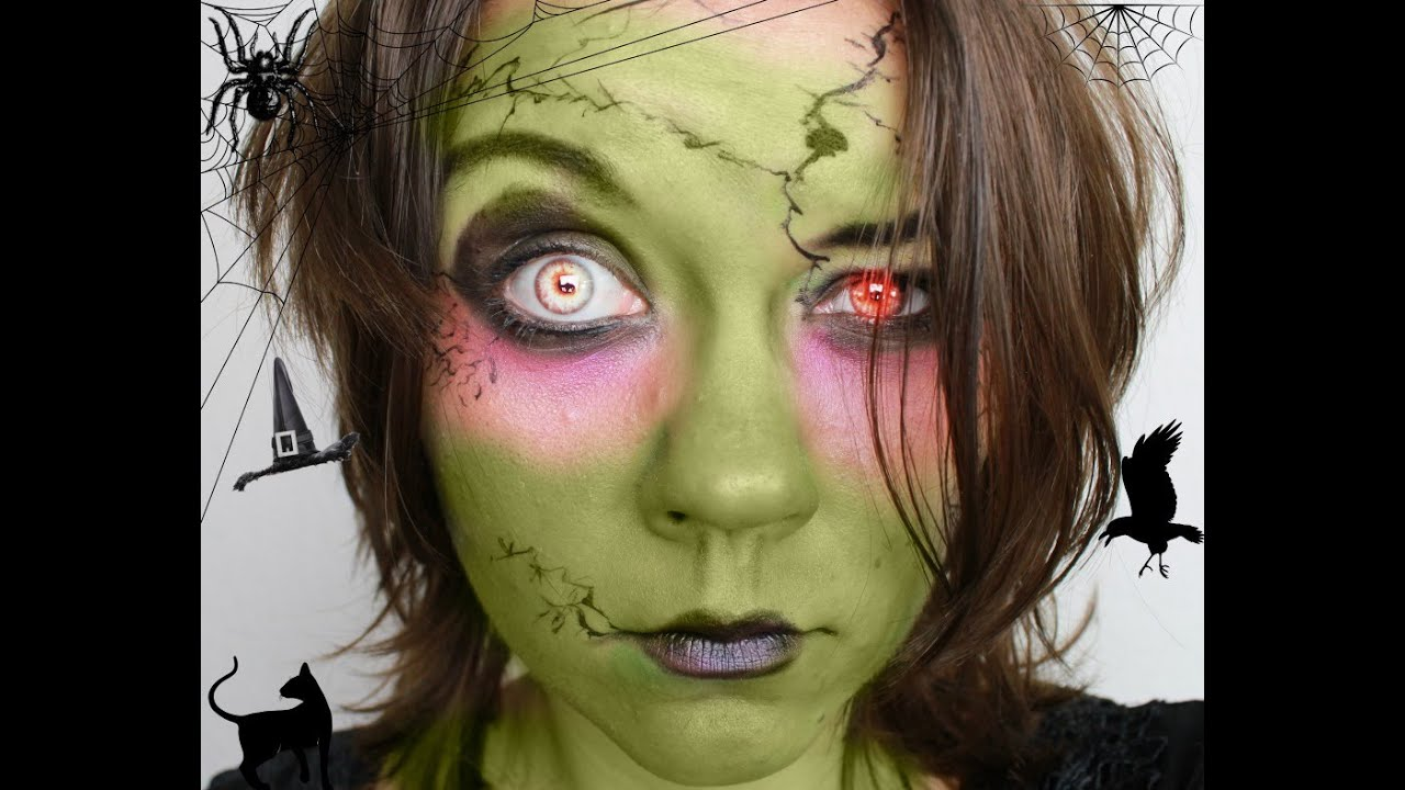 halloween make up tutorial mit lidschatten hexe witch inlovewithcosmetics youtube