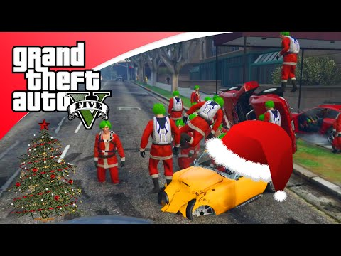 GTA V Freeroam - KERST UPDATE EN HACKERS! (GTA 5 Online Christmas)