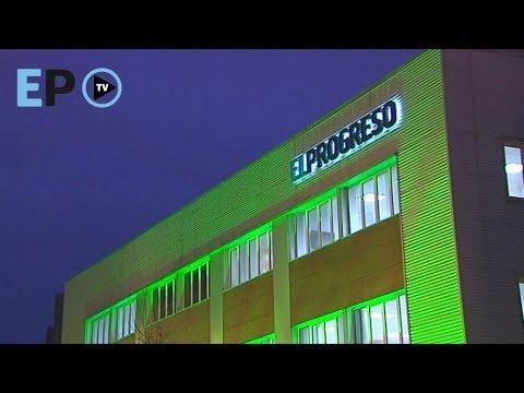 La sede de El Progreso se tiñe de verde en el Día contra el cáncer