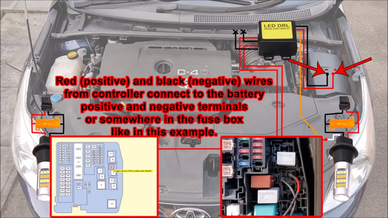 Toyota Avensis Fuse Box Diagram Drl Free Wiring For You T27 Daytime Running Lights Youtube Rh Com Rav4 Fuses Description Of Yaris