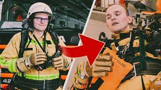 Jay kollabiert als Feuerwehrmann fast