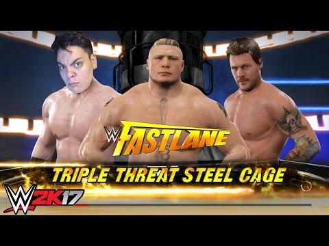 3 SÜPER STAR 1 KAZANAN - KAFES DÖVÜŞÜ WWE 2K17 (Brock Lesnar)