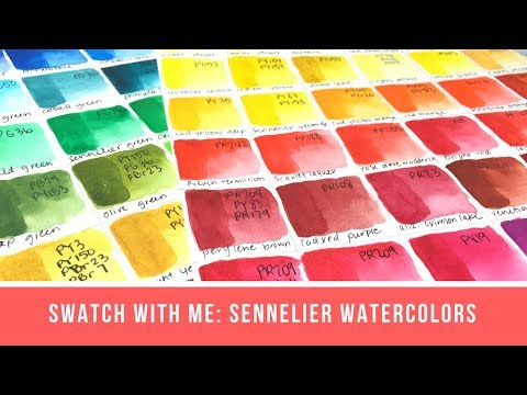 Swatch with Me: Sennelier Full Line (minus Opera)