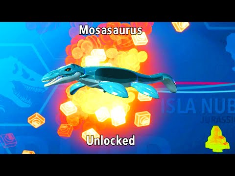 Lego jurassic world how to unlock mosasaurus amber brick location youtube - Jeux lego dino ...