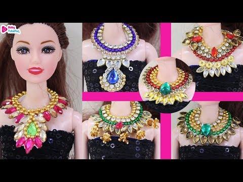 aa41249290b48 Barbie doll miniature necklace jewellery making, barbie doll ...