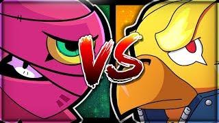 PHOENIX CROW VS TARA! - Showdown Battle! - 500+ Trophy Showdown Gameplay! - Brawl Stars