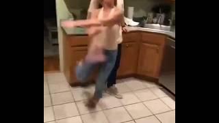WOMAN FALLS WHILE DANCING
