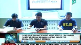 Radyo Veritas at Jesuit Org., lumagda ng kasunduan para mapaigting ang disaster info drive