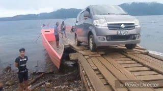 Penyeberangan Nuha ke Soroako di danau Matano