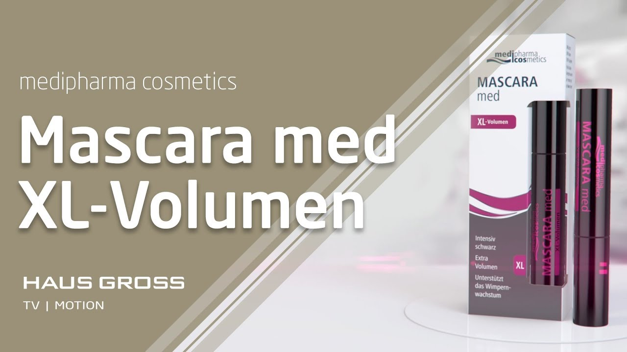 mascara med xl volumen medipharma cosmetics youtube. Black Bedroom Furniture Sets. Home Design Ideas