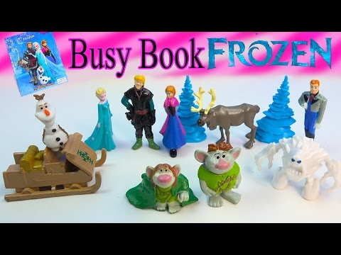Queen Elsa Princess Anna Kristoff Doll Toys Disney Frozen Unboxing My Busy Books Olaf Hans