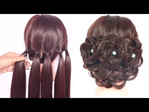 very new hairstyles with trick || hairstyle for thin hair || party hairstyle || ladies hair style