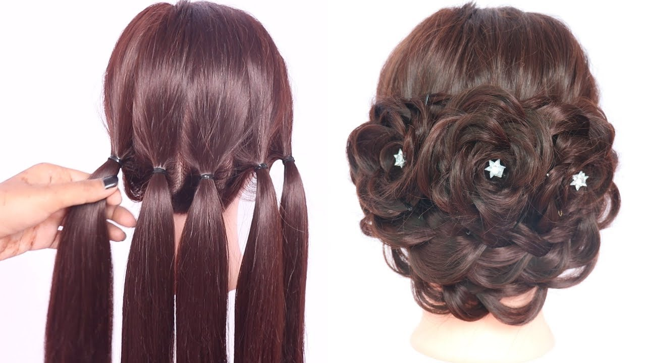 Very New Hairstyles With Trick Hairstyle For Thin Hair Party Hairstyle Ladies Hair Style Youtube