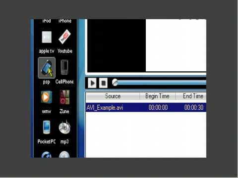 How To Convert An AVI Video File To An MP4 Or MPEG-4 Video File For My PSP