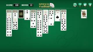 SPIDER SOLITAIRE - Easy Mode 1 Suit - Free Online Game