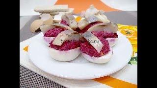 Ленивая селедка под шубой в яйцах - оригинальная закуска на праздник!