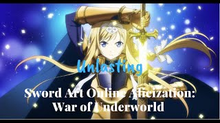 Sword Art Online Alicization: War Of Underworld Ending 1 - Unlasting By LiSA (One Hour Version)