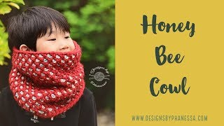 Tunisian Crochet Honey Bee Cowl FREE Pattern & Tutorial