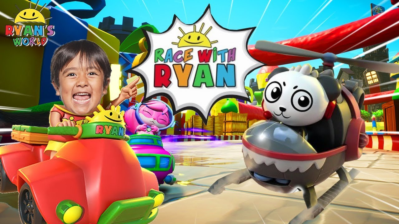 Race with Ryan Kids Racing Game with Ryan vs Daddy!!!