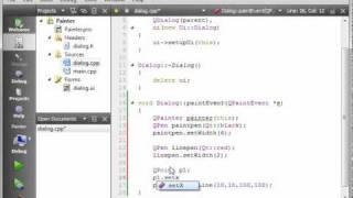 C++ Qt 74 - QPainter and QPen