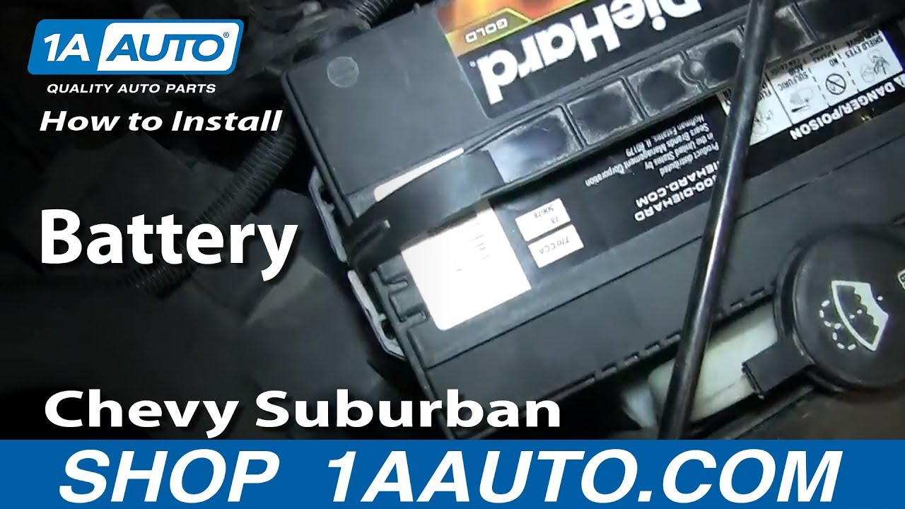 How To Install Replace Battery 200006 Chevy Suburban GMC Yukon XL  YouTube
