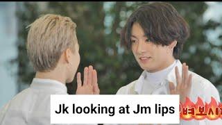 Jikook Flirting and touching in Run bts ep.131