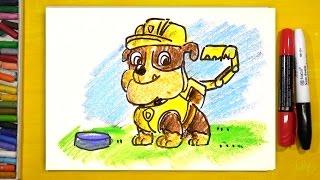 Щенячий Патруль КРЕПЫШ щенок / Урок рисования для детей