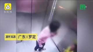Người mẹ hành hạ con nhỏ dã man trong thang máy| VTC14