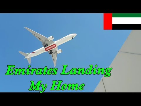 Emirates Airline Beautiful Landing Near My Home