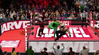 WWE 2K16 Hulk vs Bane vs Juggernaut Fight Night 4 (Prelims)