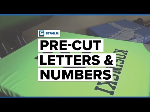 how to heat press pre cut letters numbers