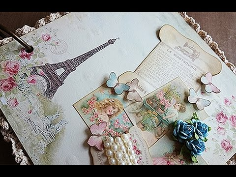 DIY: Mini Album - Vintage Paris 1889