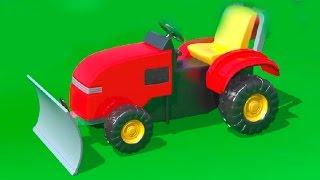 Cartoni Animati per Bambini - Al parco giochi - un bulldozer - Impariamo a contare fino a 4