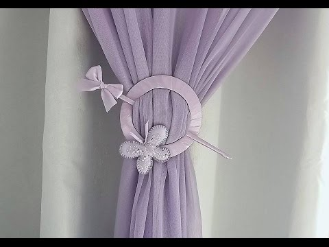 HOW TO MAKE CURTAIN TIE BACK FROM OLD CD PLAYER