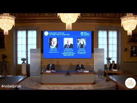 Announcement of the 2020 Nobel Prize in Physics