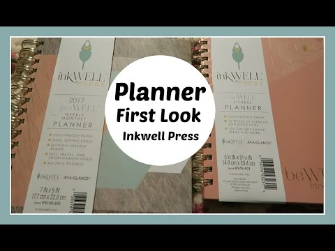 Inkwell Press Planner First Look and Overview Plus Be Well Fitness Log!