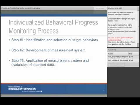 Monitoring Student Progress for Behavioral Interventions