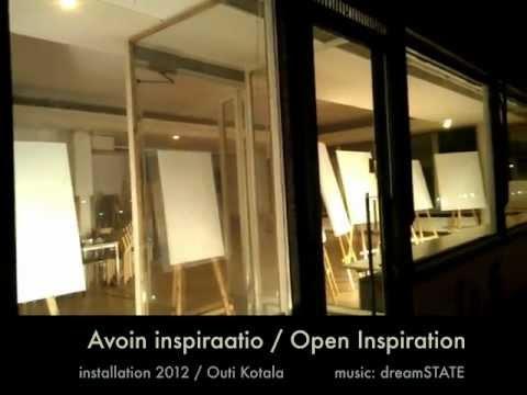 Installation: Avoin inspiraatio / Open Inspiration