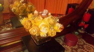 Розы из кленовых листьев. Осенний декор.Roses from maple leaves. Autumn decor.