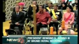President Benigno Aquino III at Brunei royal wedding