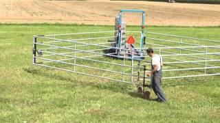 Remorque à barrières de contention bétail