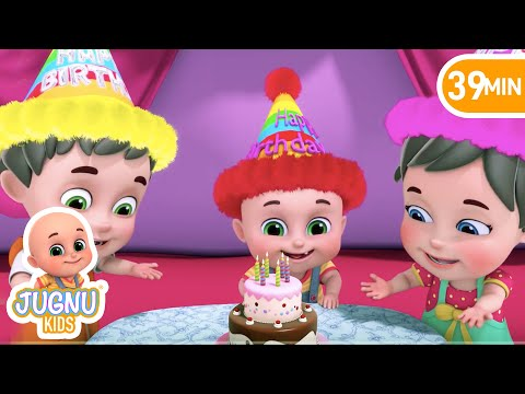 Thumbnail: Happy Birthday Song - Party Song - Birthday Wishes - Nursery Rhymes Collection from Jugnu Kids