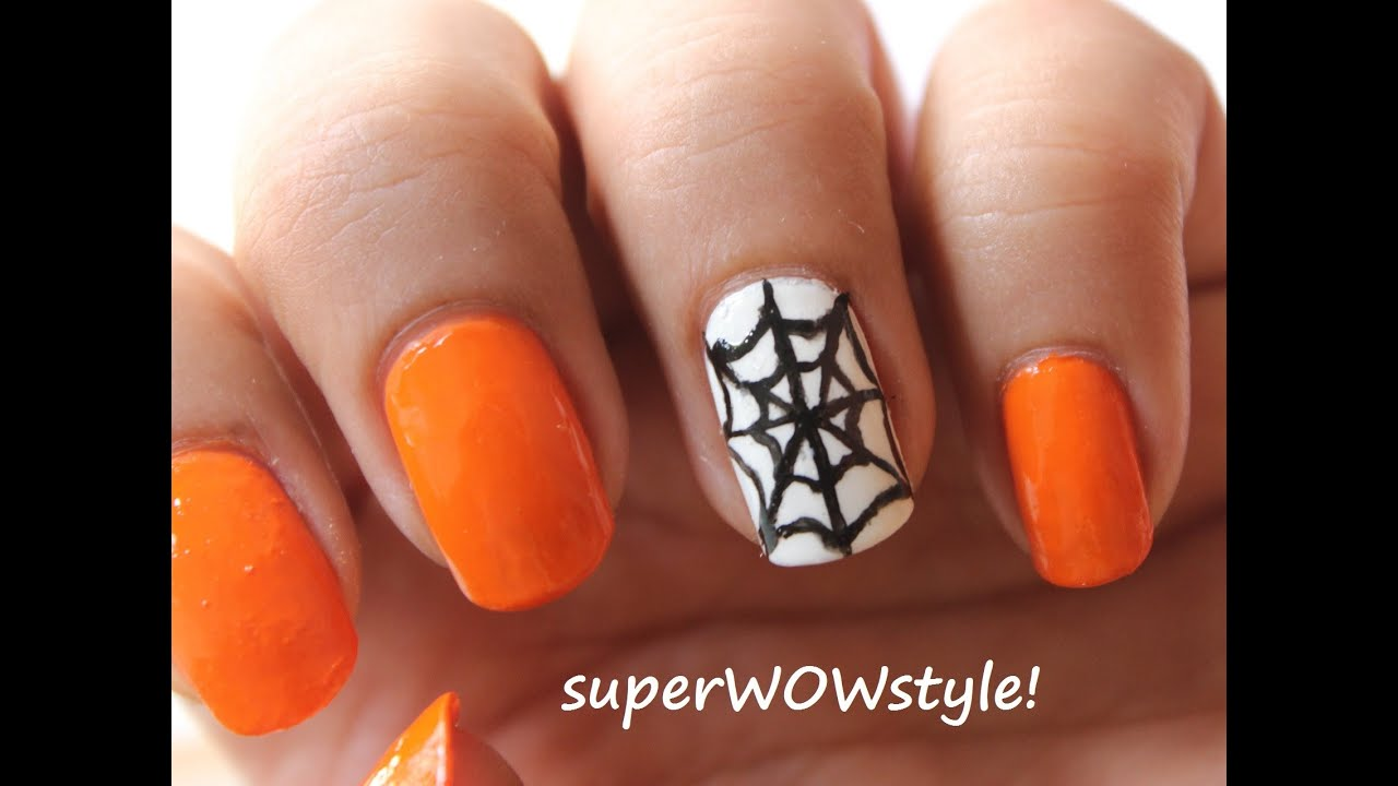 Halloween Nail Art Halloween Nails Polish Designs For Kids Youtube