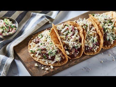 Steak Tacos with Radish Pico de Gallo