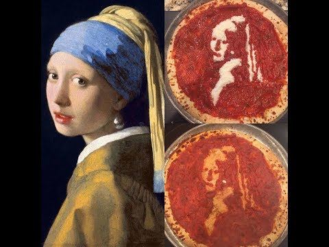 Pizza Art: Girl With a Pearl Earring | Art By Lindsay