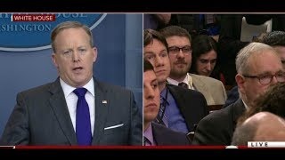 Sean Spicer SHUTS DOWN FAKE NEWS Reporter trying to downplay Made in America week!!